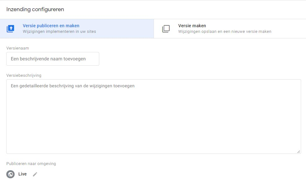 Inzending-Google-Tag-Manager
