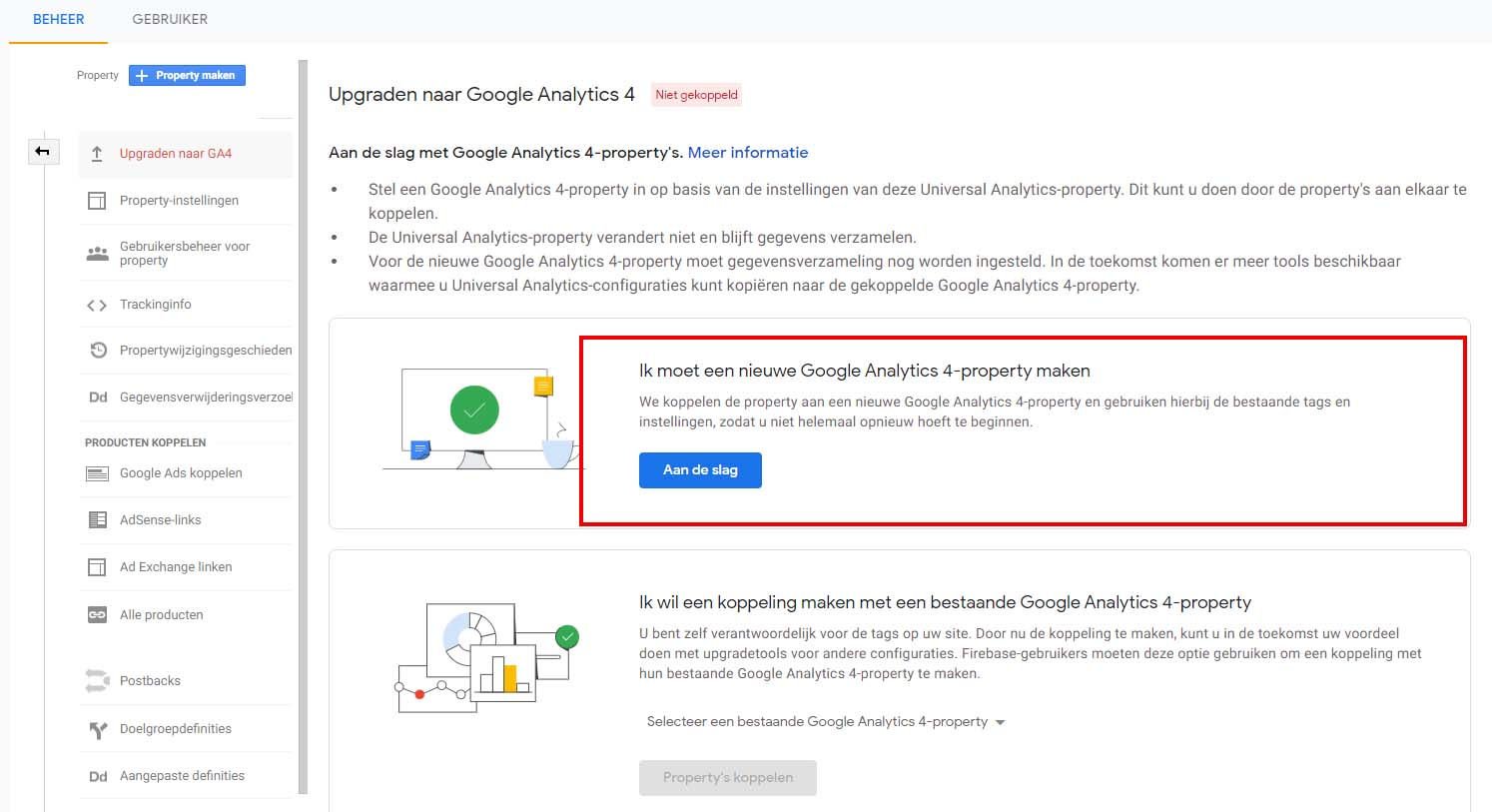Google Analytics 4 - Stap 2 implementatie