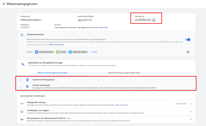 Google Analytics 4 - Stap 7 implementatie
